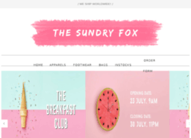 thesundryfox.blogspot.sg