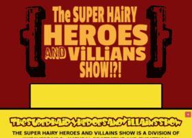 thesuperhairyheroesandvillainsshow.com