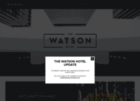 thewatsonhotelny.com