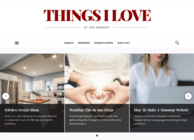 thingsiloveatthemoment.com
