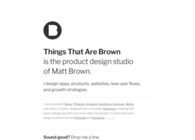 thingsthatarebrown.com