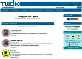 thingswedontknow.com