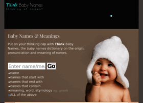 thinkbabynames.com