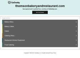 thomsonbakeryandrestaurant.com