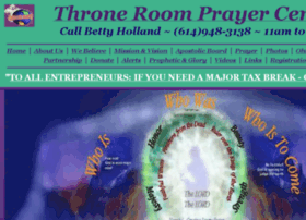 throneroomprayercenter.com