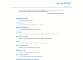 thrysoee.dk
