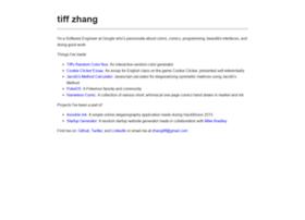 tiffzhang.com
