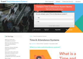 timeandattendancesystems.expertmarket.co.uk