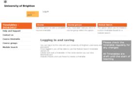 timetable.brighton.ac.uk