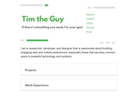 timtheguy.com