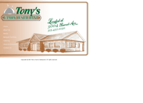 tonysfamilyrestaurant.net