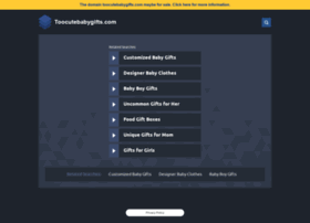 toocutebabygifts.com