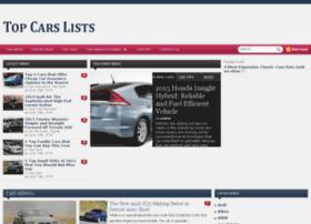 topcarslists.com