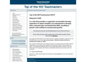 topofthehill.toastmastersclubs.org