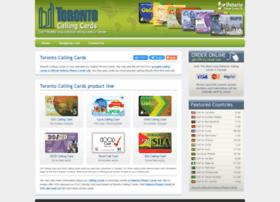 torontocallingcards.com