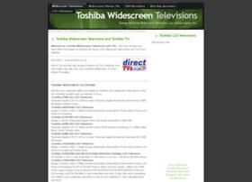 toshibatvs.widescreentelevisions.co.uk