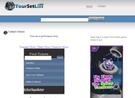 toursetlist.com