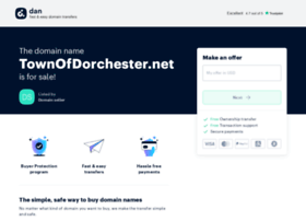 townofdorchester.net