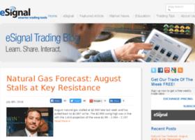 tradingblog.esignal.com