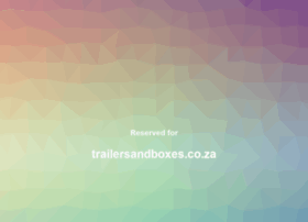 trailersandboxes.co.za
