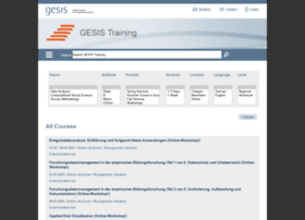 training.gesis.org