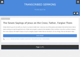 transcribedsermons.org