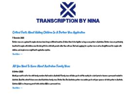 transcriptionbynina.com