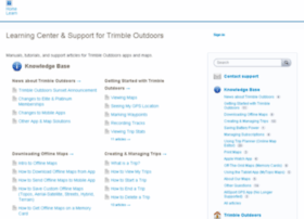 trimbleoutdoors.uservoice.com