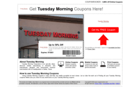 tuesdaymorning.couponrocker.com