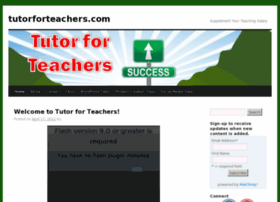 tutorforteachers.com