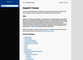tutorial.simplecv.org
