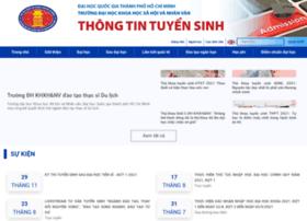 tuyensinh.hcmussh.edu.vn