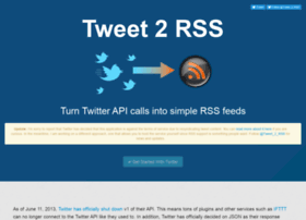 tweet-2-rss.appspot.com