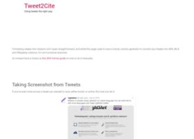 tweet2cite.com