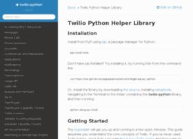 twilio-python.readthedocs.org