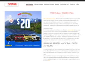 twinscarrentalbali.com
