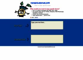 typeupsidedown.com