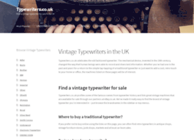 typewriters.co.uk