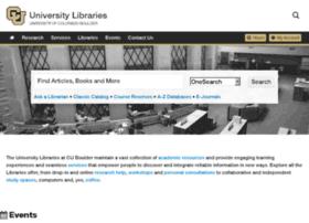ucblibraries.colorado.edu