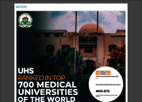 uhs.edu.pk