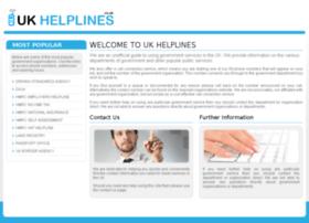 ukhelplines.co.uk