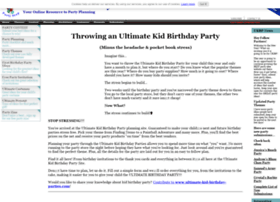 ultimate-kid-birthday-parties.com