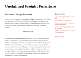 unclaimedfreightfurniture.org