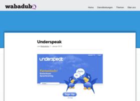 underspeak.com