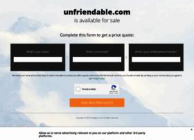 unfriendable.com