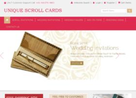 uniquescrollcards.com