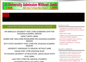 universitiesadmission.com.ng