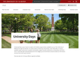 universitydays.ua.edu