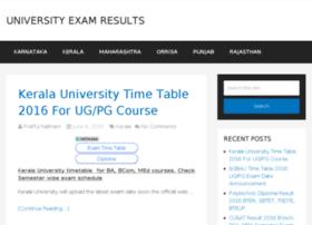 universityexamresults.co.in