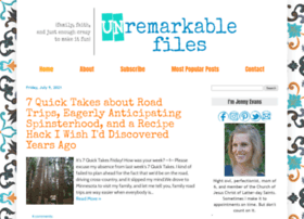 unremarkablefiles.com